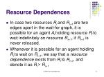 resource dependences