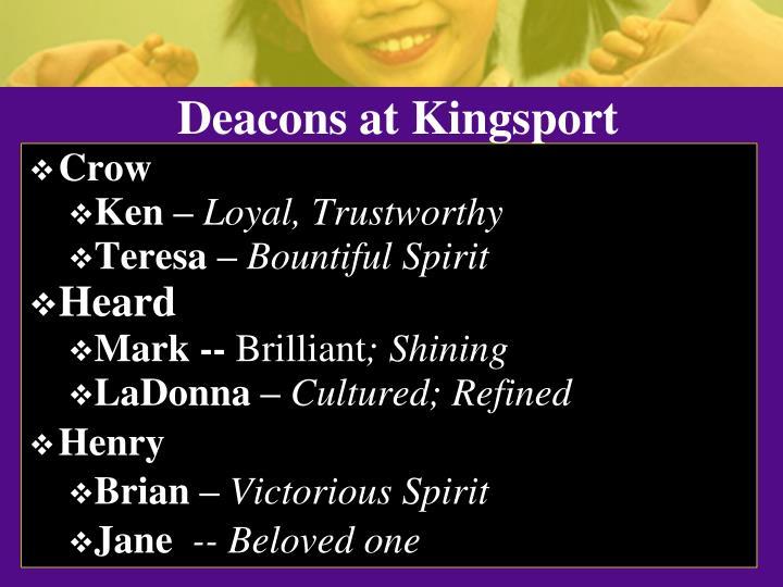 Deacons at Kingsport