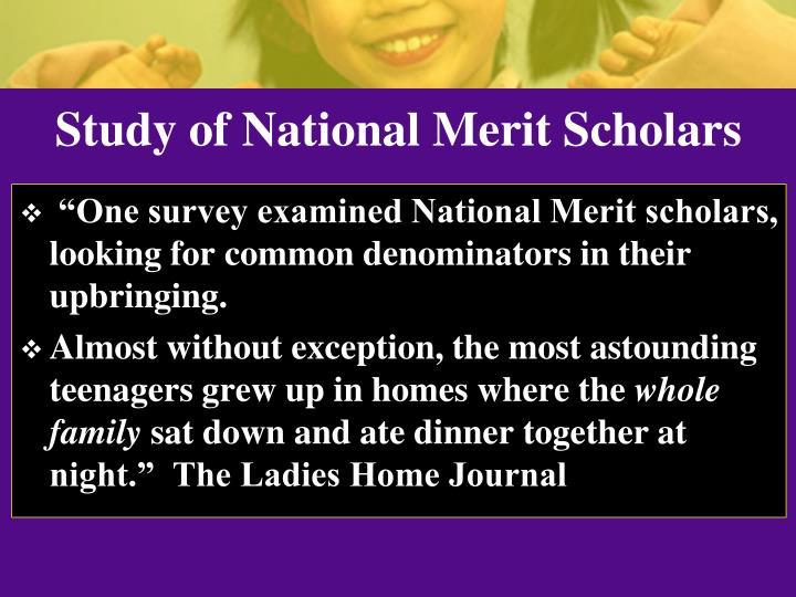 Study of National Merit Scholars