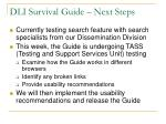 dli survival guide next steps