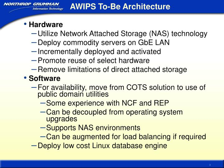 Awips to be architecture