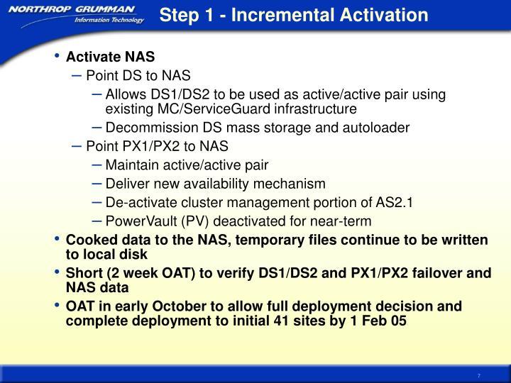 Step 1 - Incremental Activation