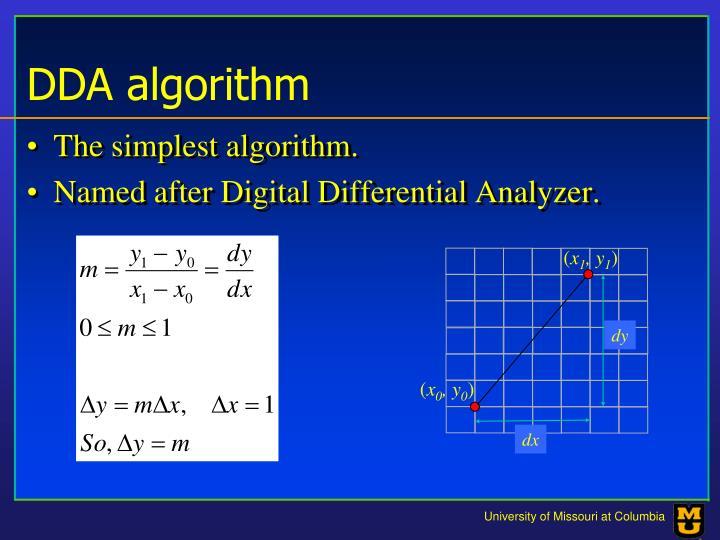 Dda algorithm