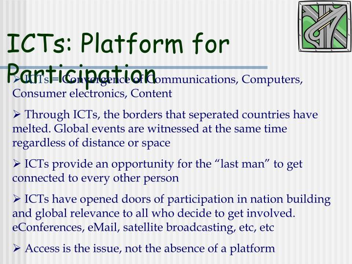 ICTs: Platform for Participation