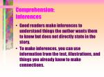 comprehension inferences