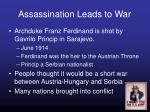 assassination leads to war