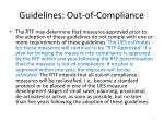 guidelines out of compliance