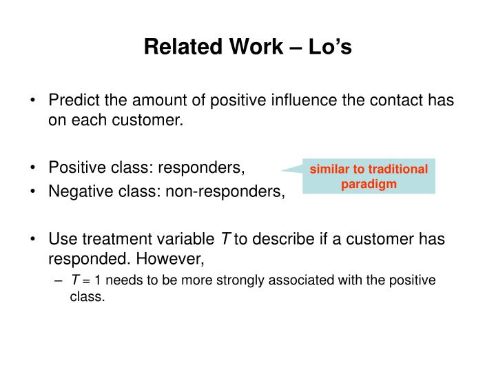 Related Work – Lo's