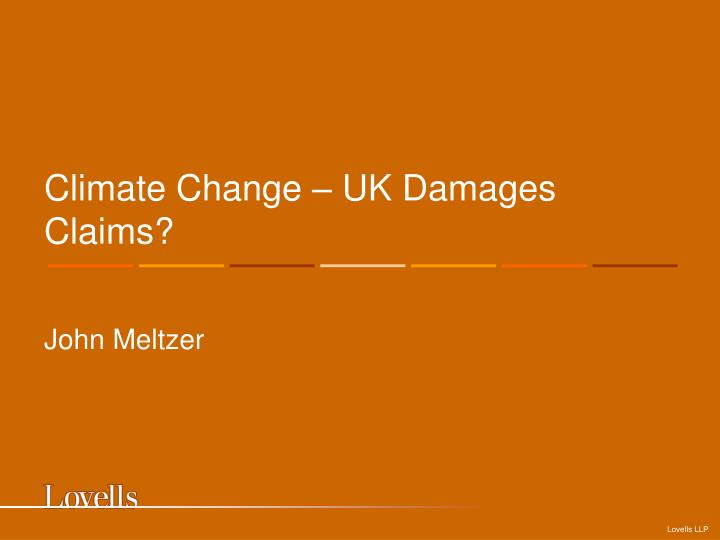 climate change uk damages claims n.