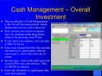 cash management overall investment