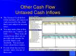 other cash flow untaxed cash inflows