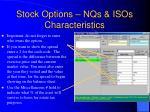 stock options nqs isos characteristics