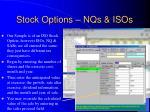 stock options nqs isos