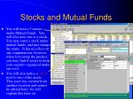 stocks and mutual funds