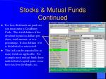 stocks mutual funds continued1