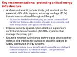 key recommendations protecting critical energy infrastructure