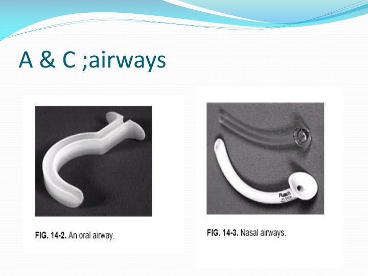 A & C ;airways