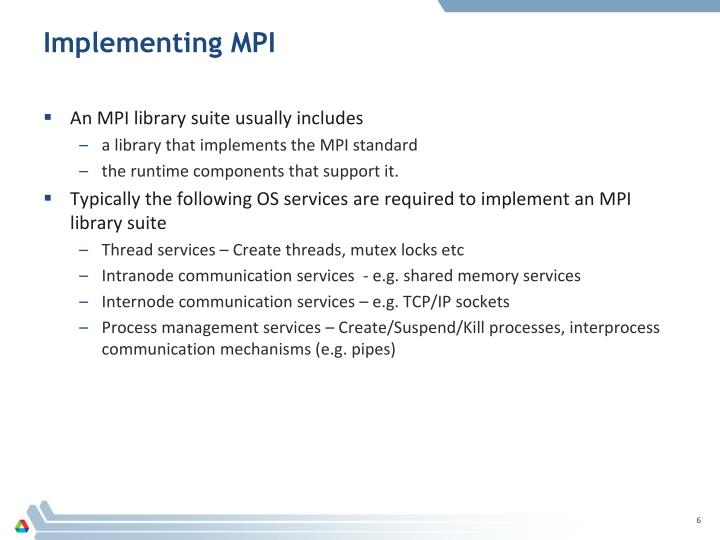 Implementing MPI