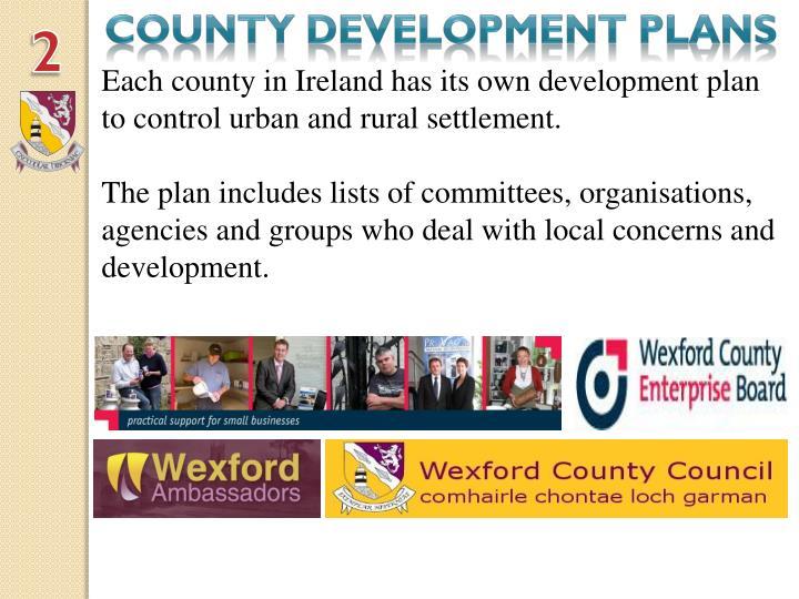 County development plans