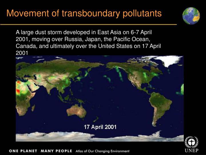 Movement of transboundary pollutants