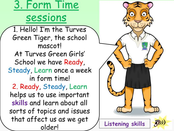 3. Form Time sessions