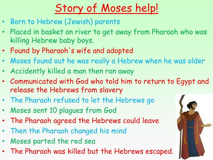 Story of Moses help!