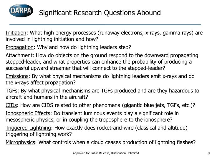 Significant Research Questions Abound