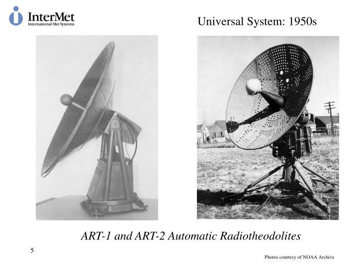Universal System: 1950s