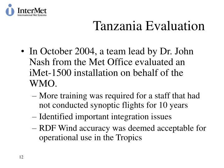 Tanzania Evaluation