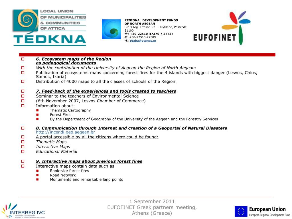 Ppt Eufofinet European Forest Fire Networks General Presentation