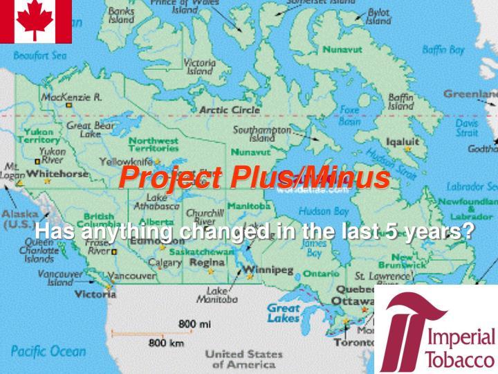 Project Plus/Minus