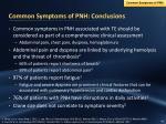 common symptoms of pnh conclusions