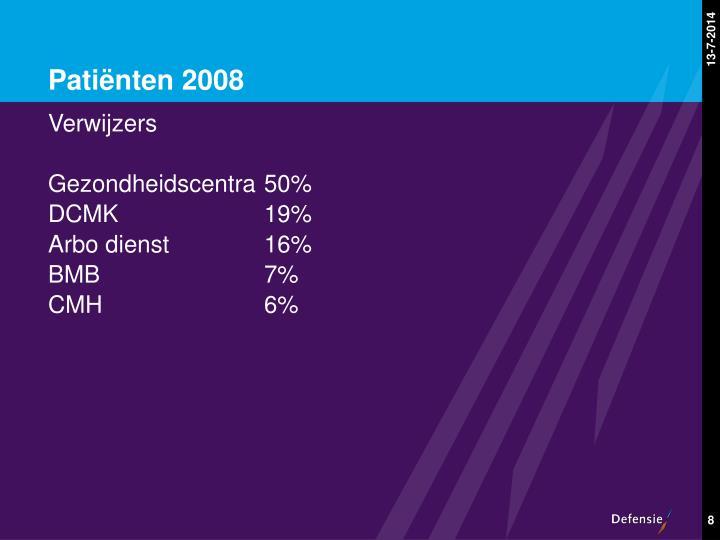Patiënten 2008