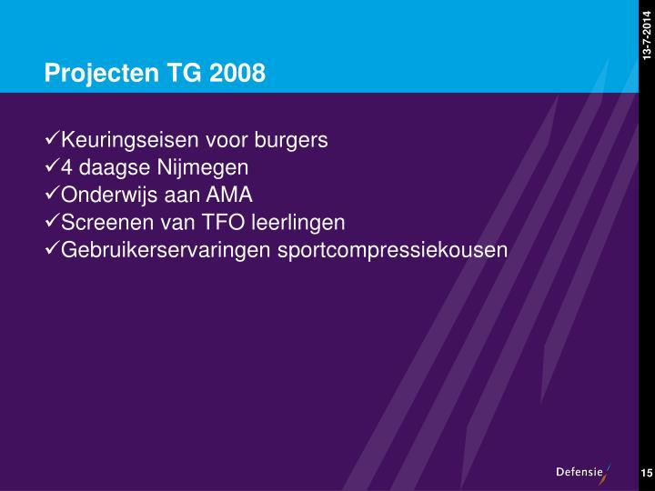 Projecten TG 2008