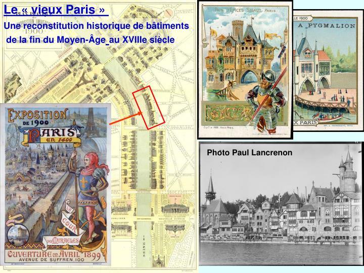 Le «vieux Paris»