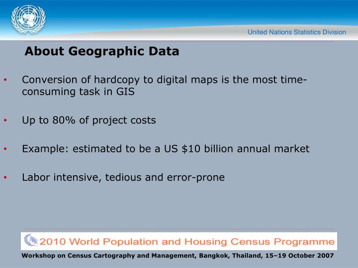 About geographic data