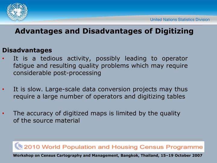 Advantages and Disadvantages of Digitizing