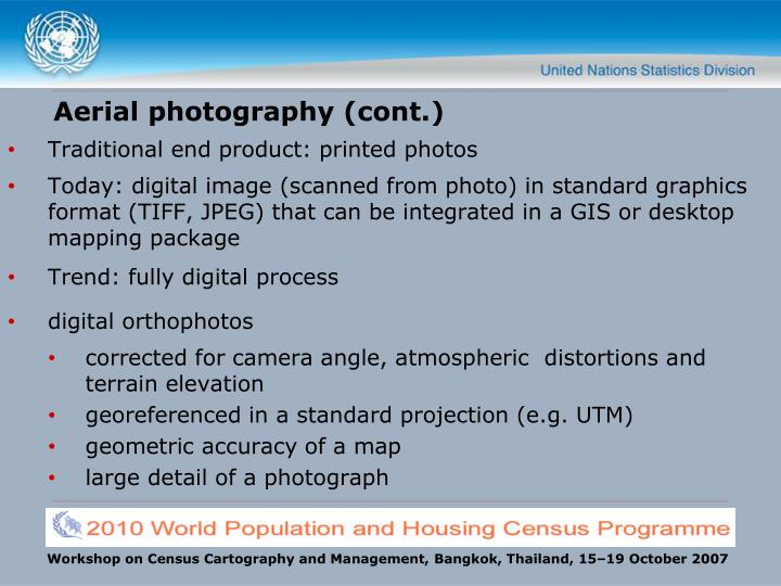 Aerial photography (cont.)
