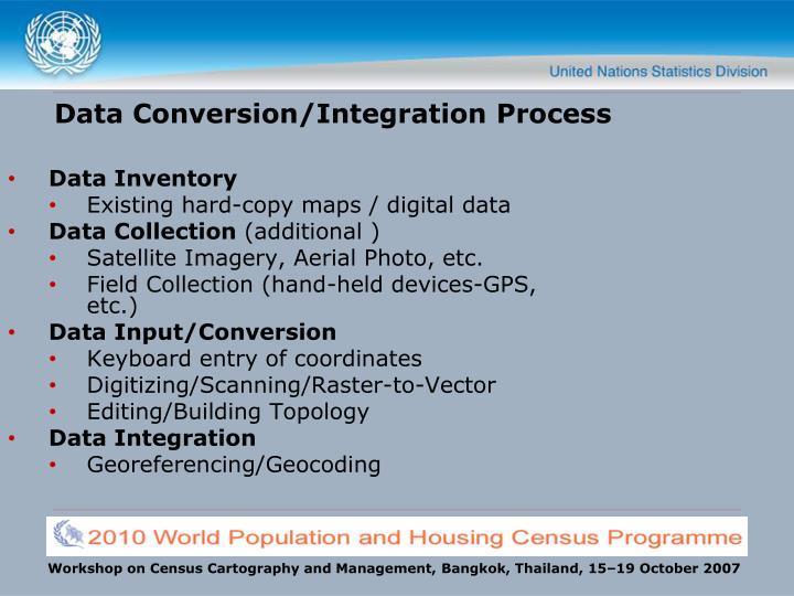 Data conversion integration process