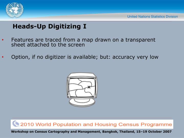 Heads-Up Digitizing I