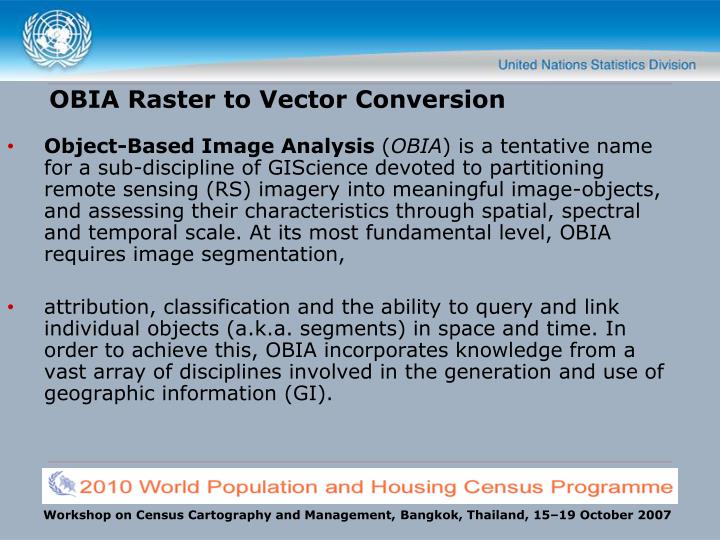 OBIA Raster to Vector Conversion