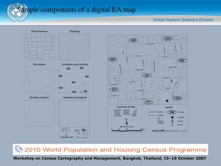 Sample components of a digital EA map