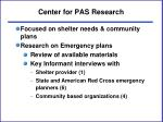 center for pas research