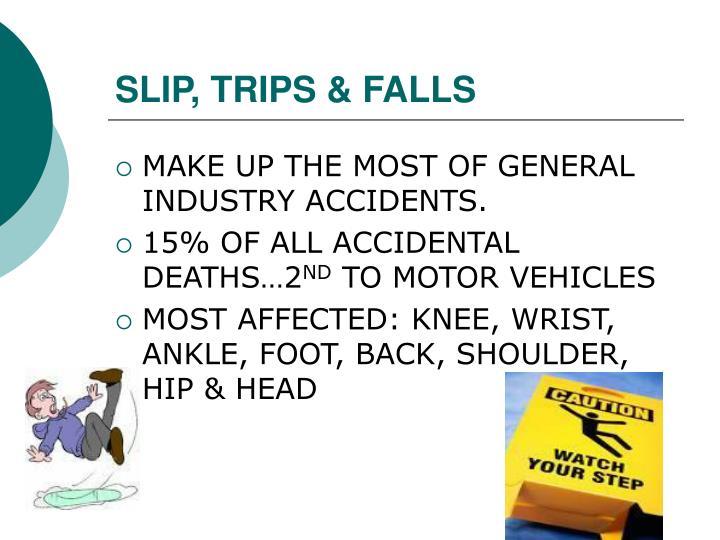 SLIP, TRIPS & FALLS