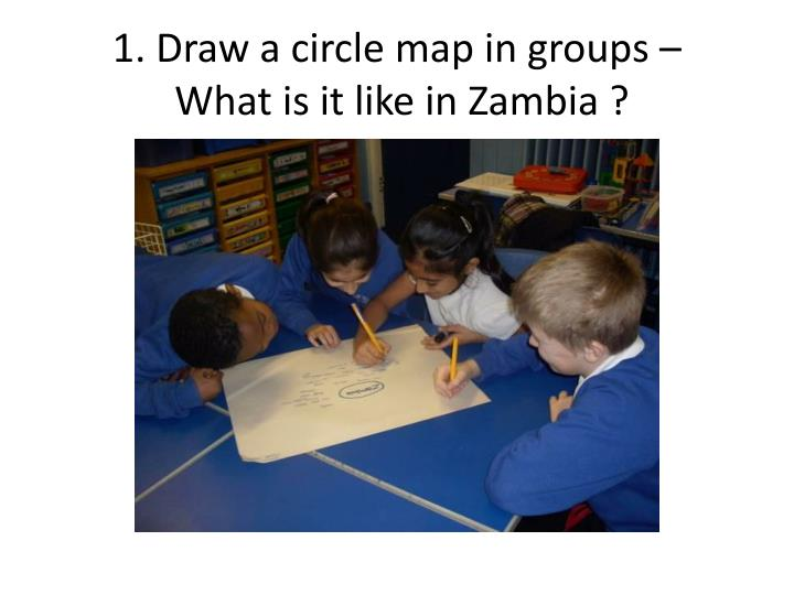 1 draw a circle map in groups what is it like in zambia