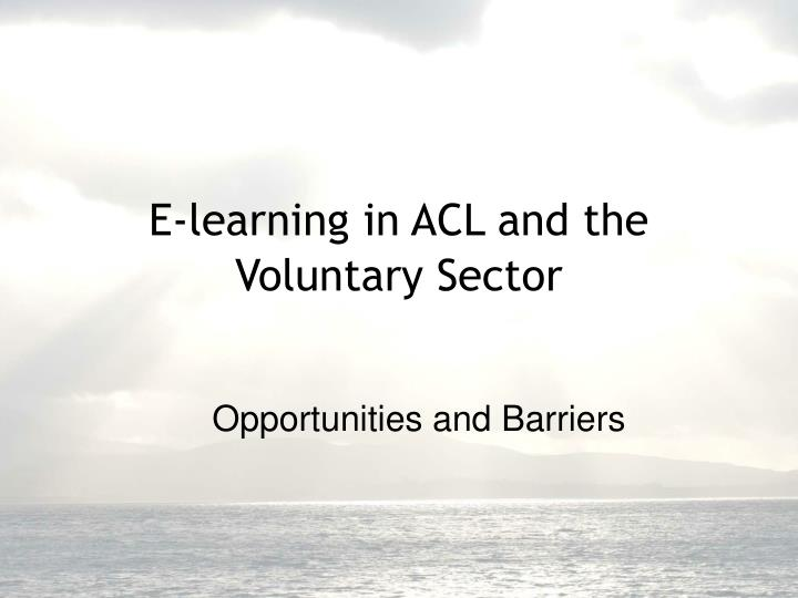 opportunities and barriers n.