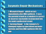 enzymatic repair mechanisms