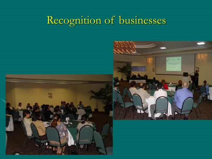 Recognition of businesses