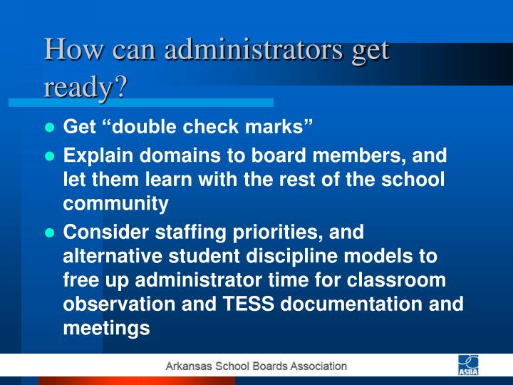 How can administrators get ready?