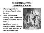 charlemagne 800 ce the father of europe